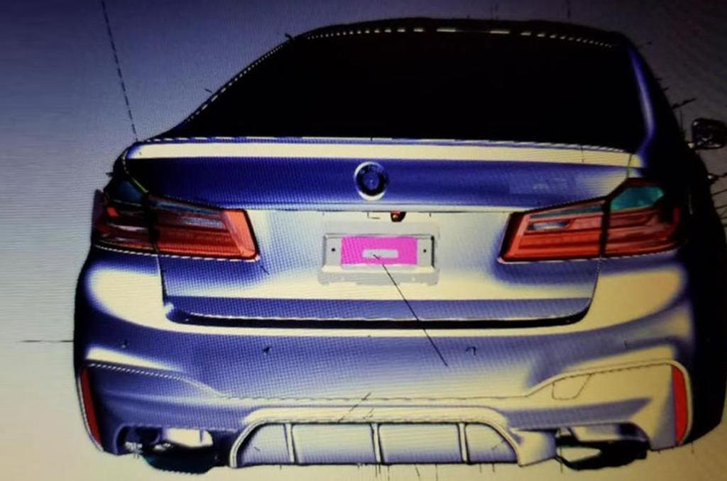 Alleged 2018 BMW M5 CAD drawings - Image via CamVanDerHorst