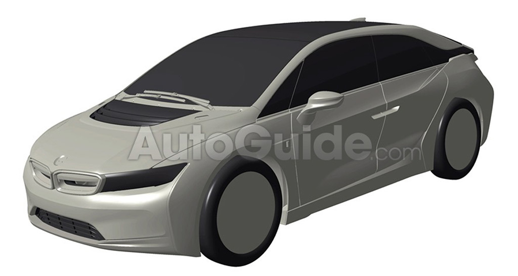 Alleged patent drawing for BMW i5 - Image via Autoguide