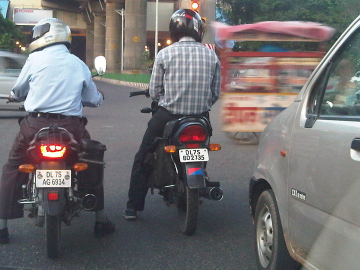 Alleged traffic violators posted to a Facebook page for the New Delhi police