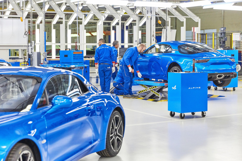 Alpine A110 production in Dieppe, France