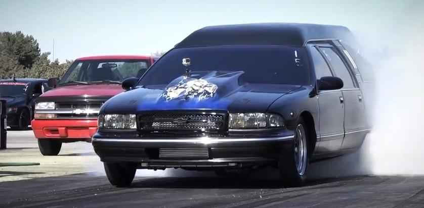 turbo hearse run    quarter mile video