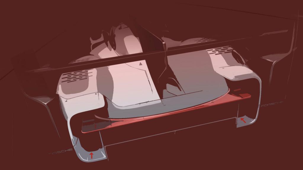 Artist's impression of 2023 Porsche LMDh race car