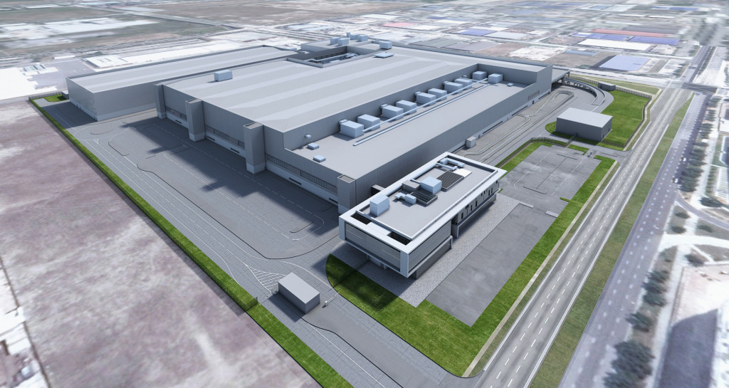 Artist's impression of Dyson's planned electric car plant in Singapore
