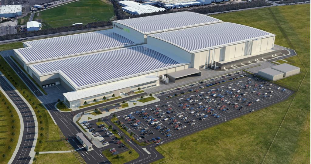 Artist's impression of Envision AESC battery plant to be built in Sunderland, United Kingdom