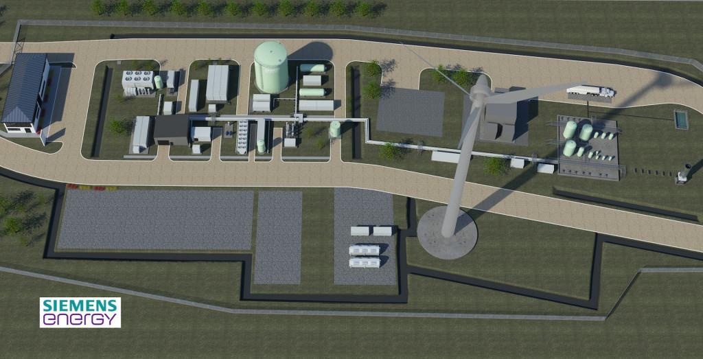 Artist's impression of Haru Oni synthetic fuel pilot plant