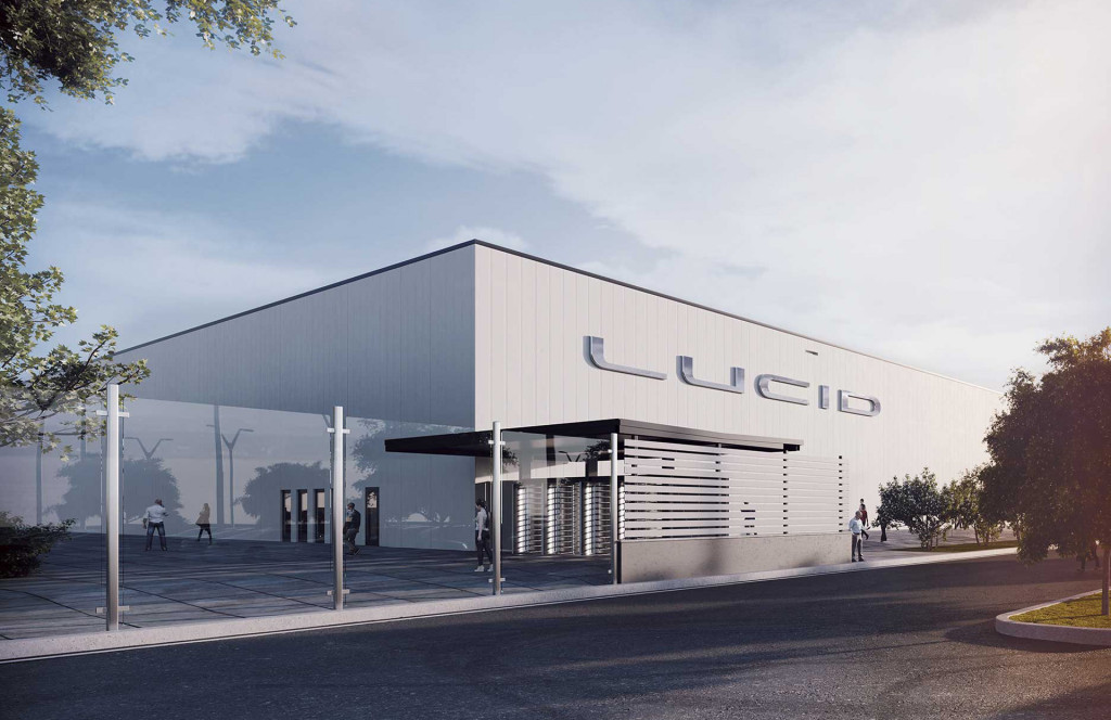 Artist's impression of Lucid's planned plant in Casa Grande, Arizona