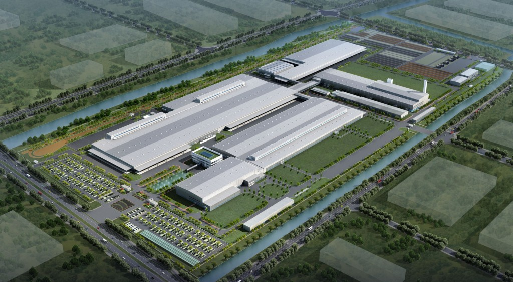 Artist's impression of Volvo's plannned plant in Luqiao, China