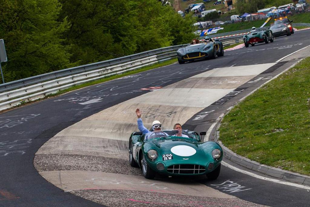 Aston Martin centenary drive at the Nürburgring