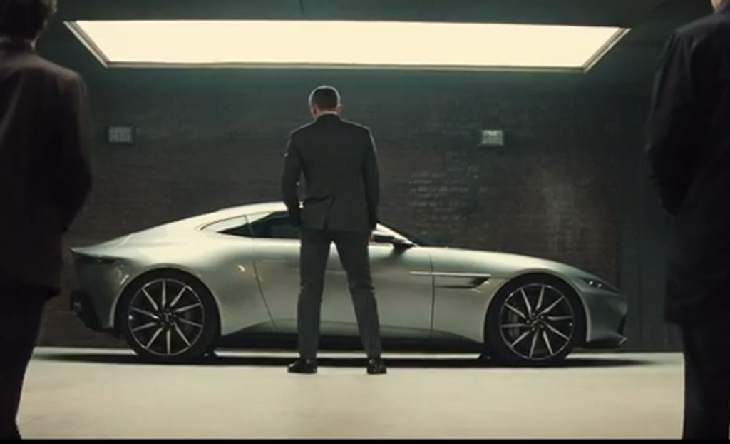 Aston Martin DB10 in trailer for new James Bond movie 'Spectre'