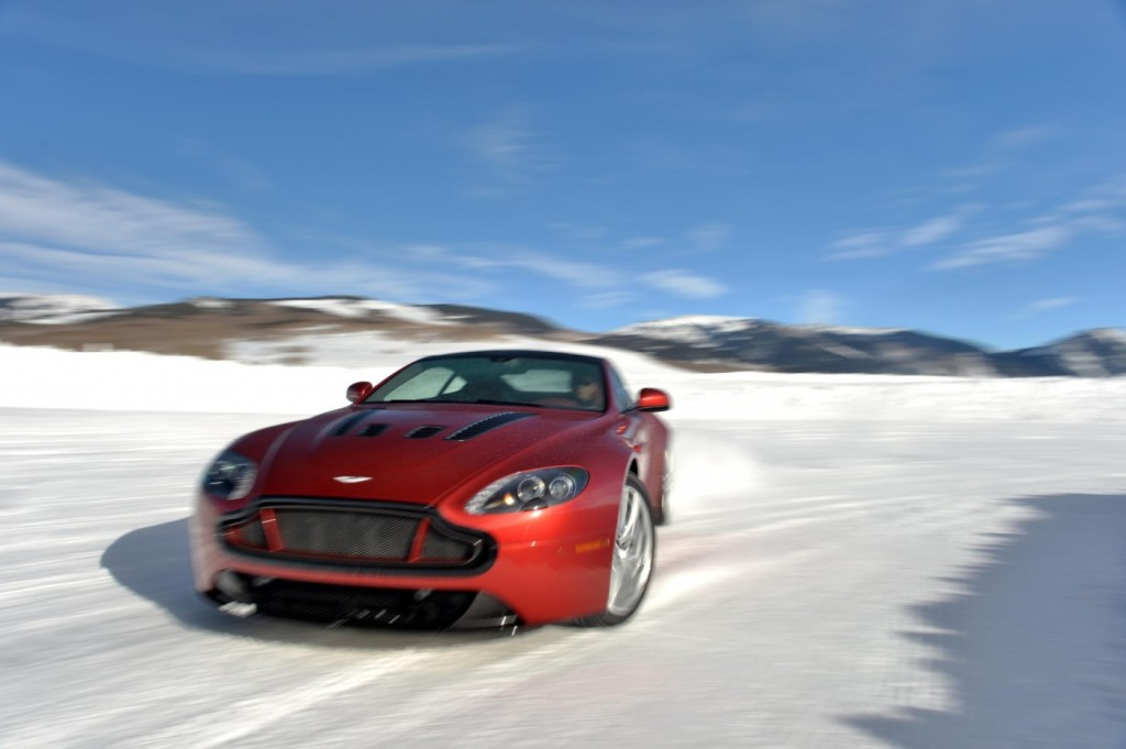 Aston Martin V12 Vantage S On Ice