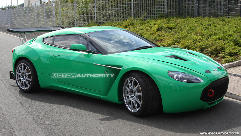 Aston Martin V12 Zagato Race Car Spy Shots