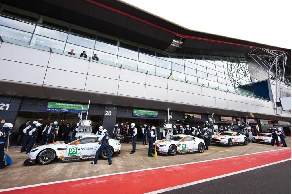 Aston Martin Vantage GTE in the 2013 WEC season opener at Silverstone