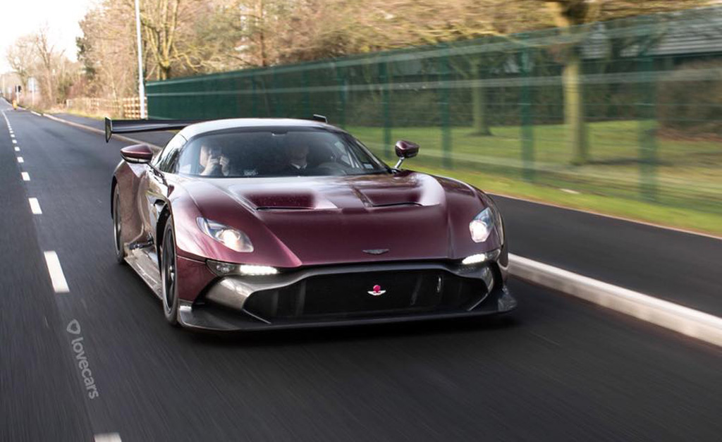See the first street-legal Aston Martin Vulcan hit the road
