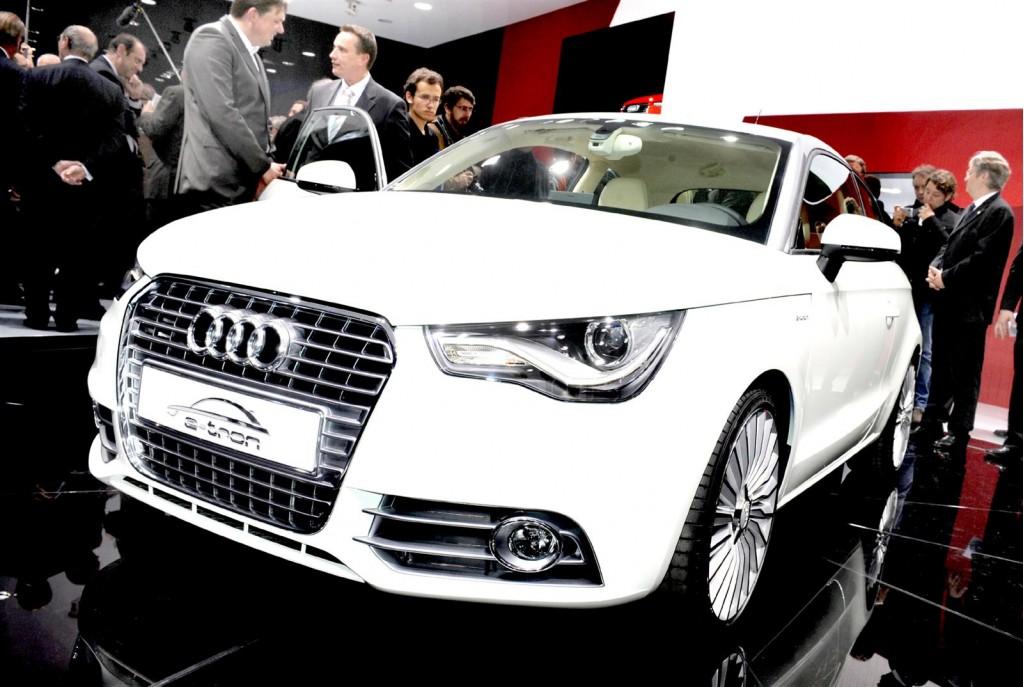 Audi A1 e-tron design study live in Geneva. Photos © United Pictures, Int'l.