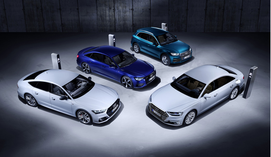Plug-in hybrids of Audi A8, A7, A6 and Q5