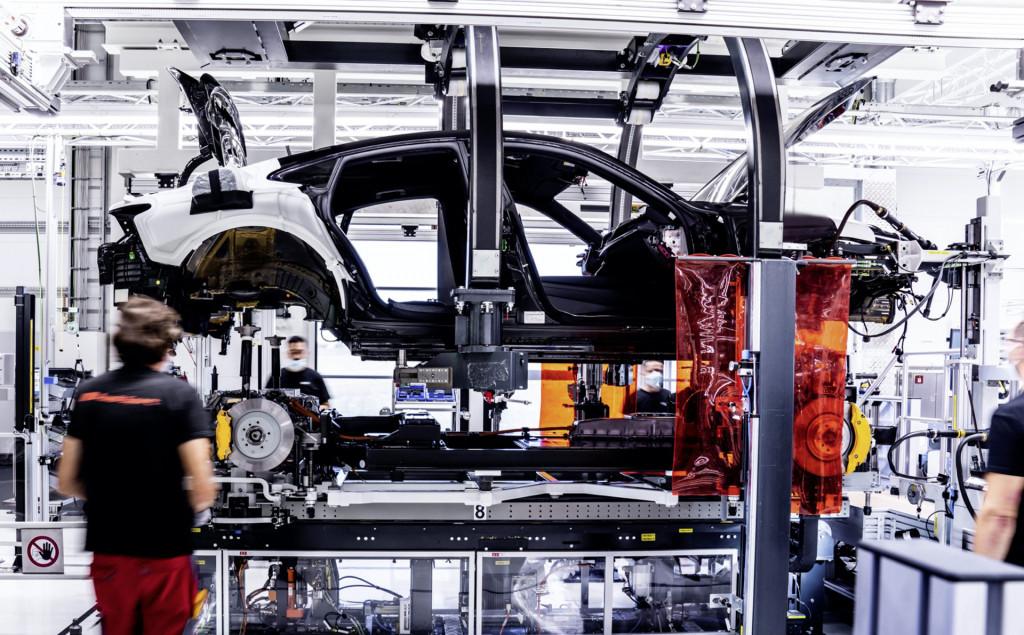 Audi E-Tron GT pre-production at Böllinger Höfe plant in Neckarsulm, Germany