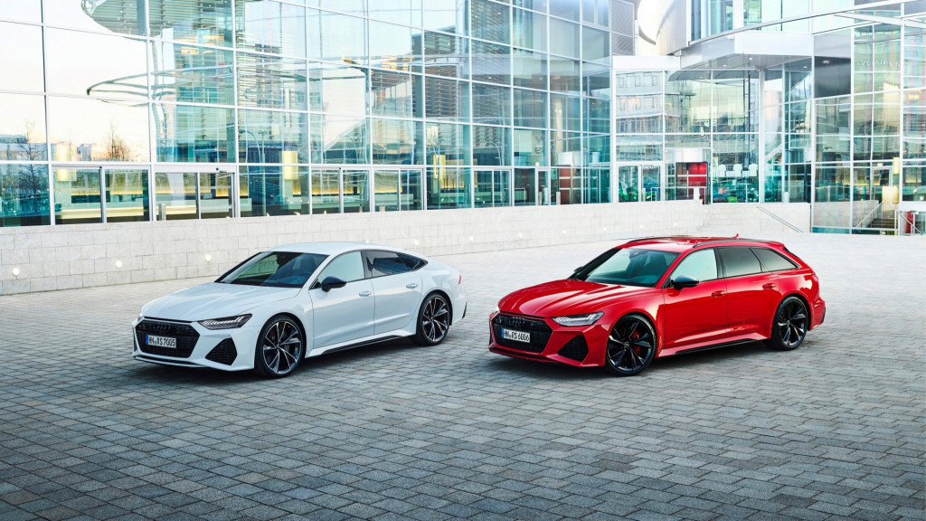 Audi RS 7 Sportback (left) and RS 6 Avant (right)