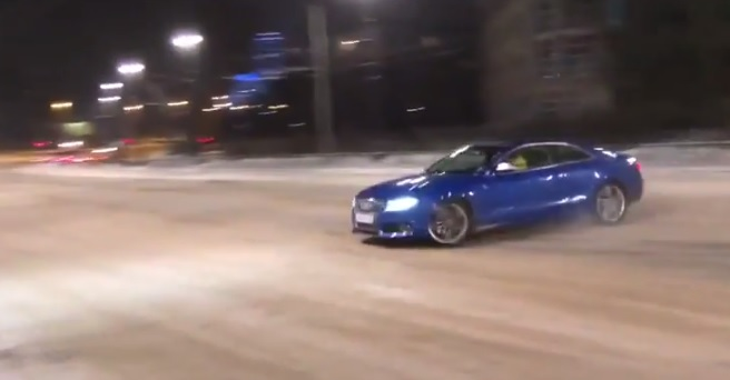 Audi S5 Snow Drift Goes Very, Very Wrong: Video