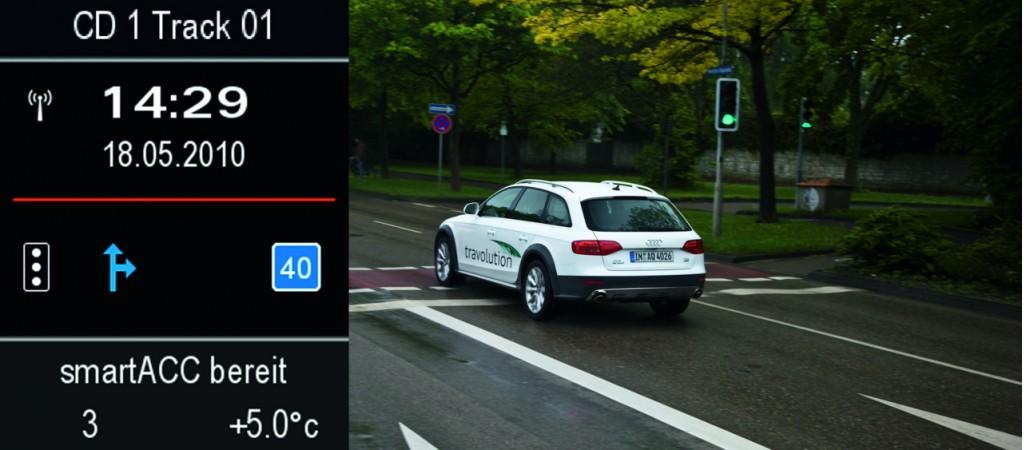 Audi 'travolution' concept for traffic signals