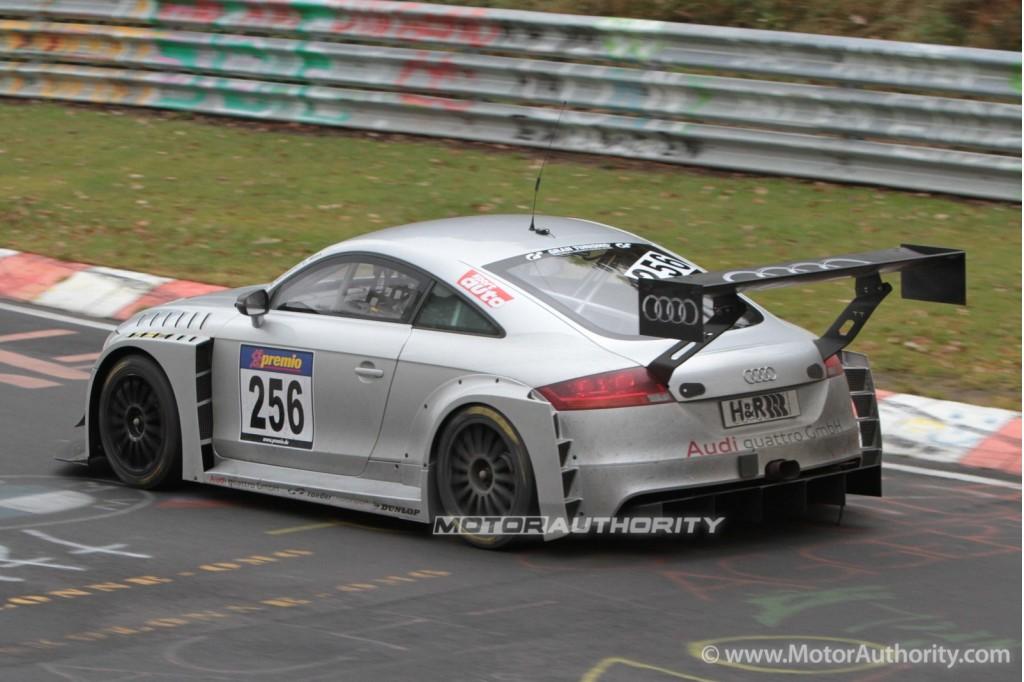 Image: Audi TT RS endurance race car spy shots, size: 1024 x 682 ...