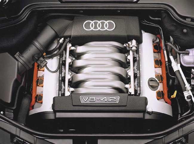 Audi V-8 engine