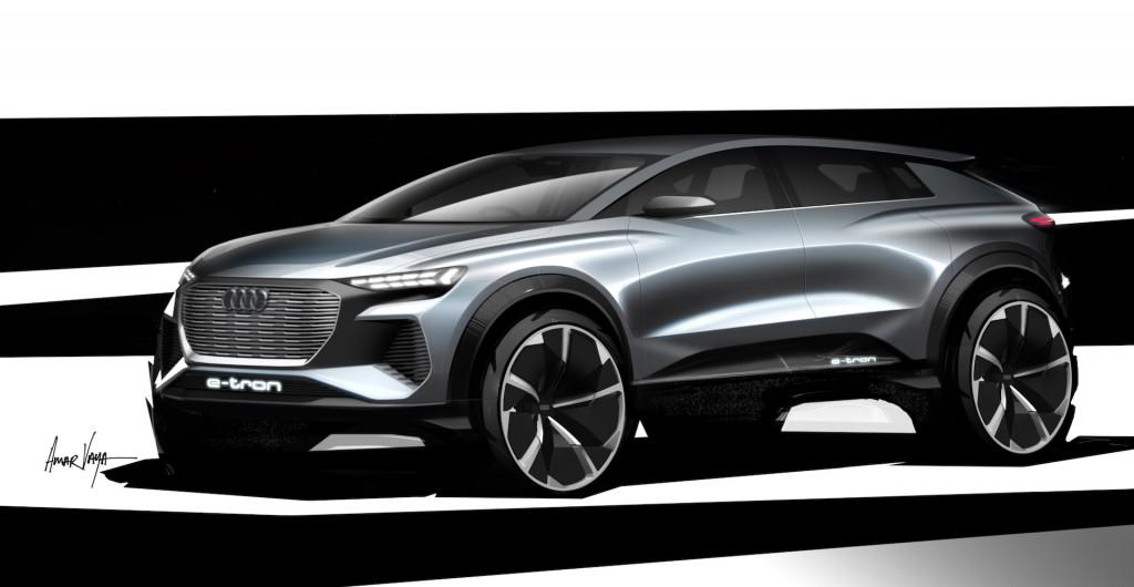 Audi Q4 e-tron concept teaser sketch