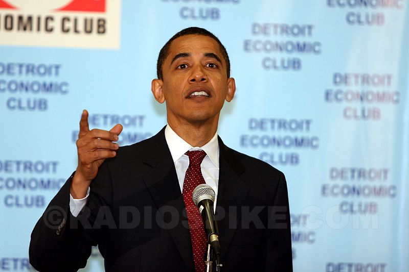 Barack Obama speaking Detroit Economic Club