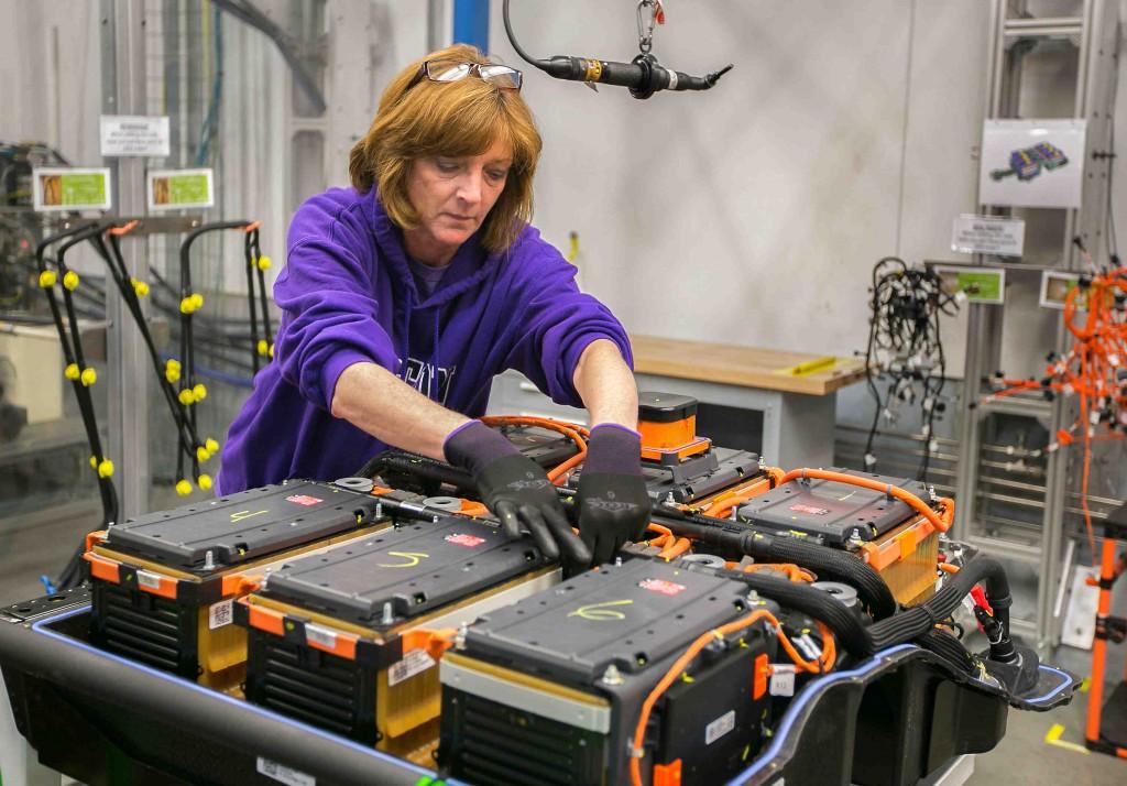 Image: Battery pack assembly for 2015 Chevrolet Spark EV ...