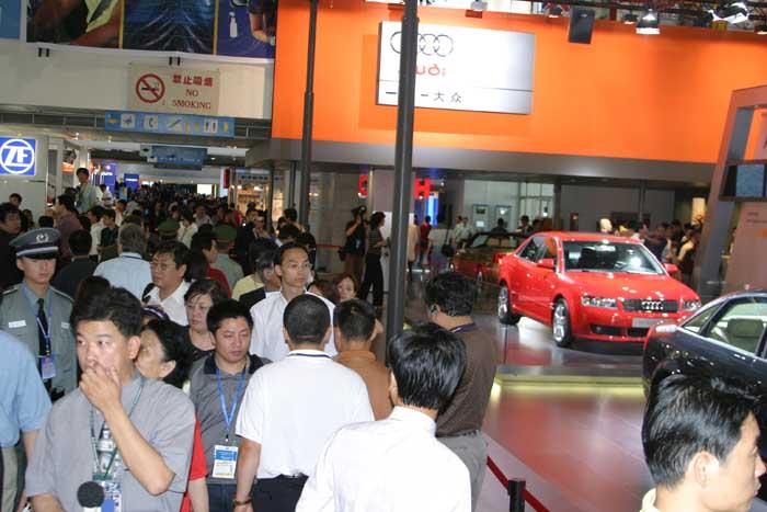 Beijing Motor Show crowds