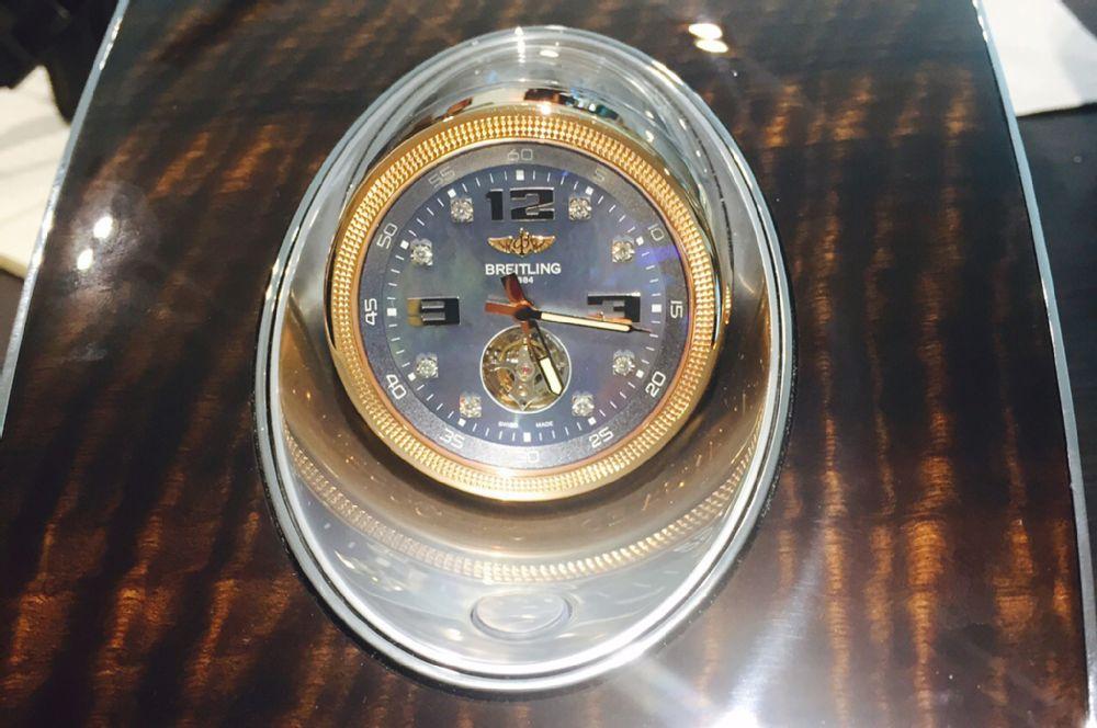 Bentley Bentayga Breitling Clock L on 2007 Bentley Continental Gt