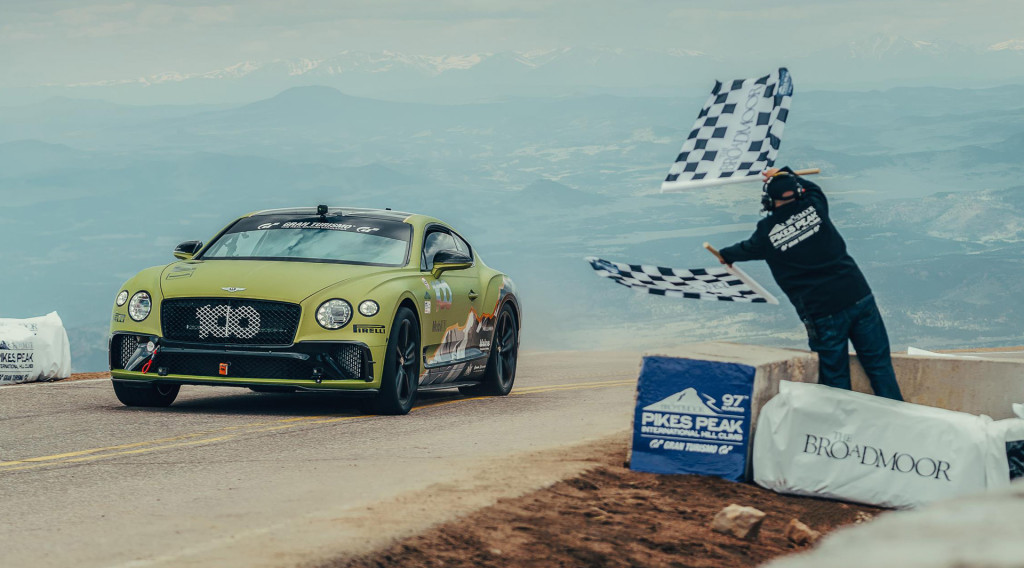 2019 Bentley Continental GT sets Pikes Peak production car record