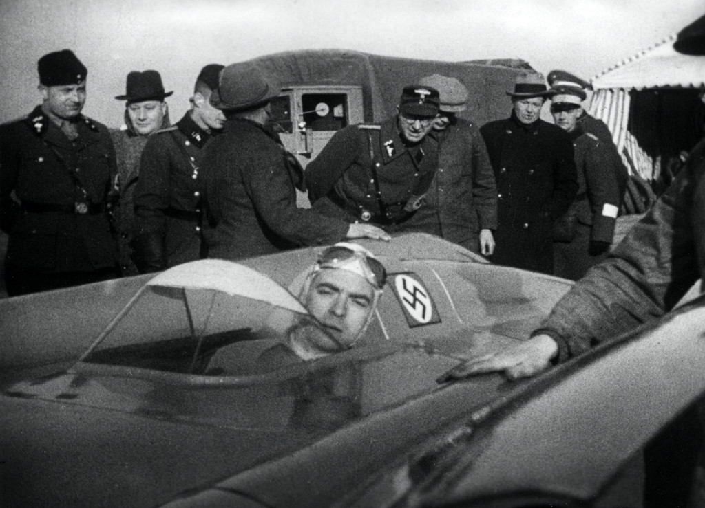 Bernd Rosemeyer at the start of the speed record attempt that cost his life, January 1938