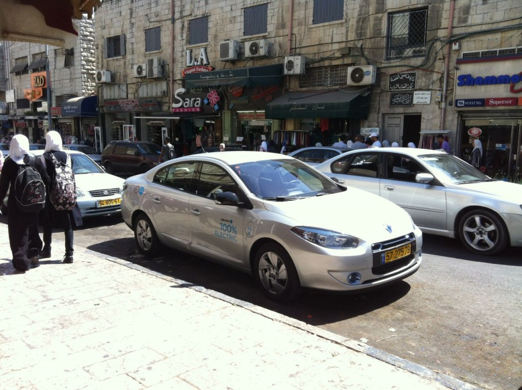 Better Place Renault Fluence ZE on the streets of Jerusalem