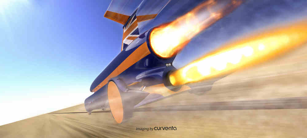 Bloodhound SSC 1,000 mph land speed record car