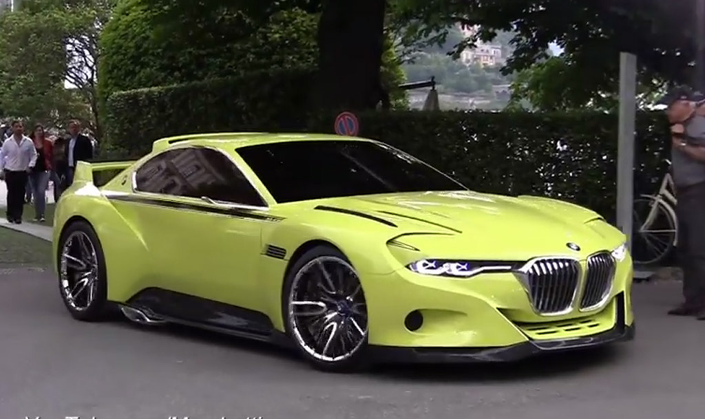 Watch BMWs CSL Hommage Concept Start Up And Roll Video - 3 0 bmw