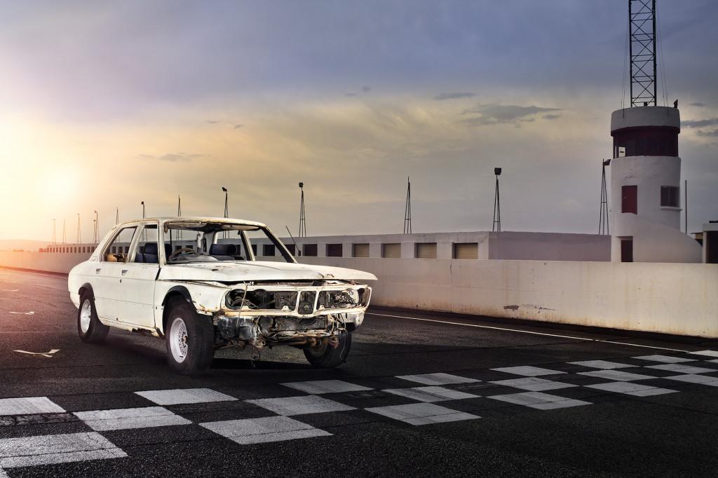 An original BMW 530 MLE, a precursor to the M5, is undergoing restoration