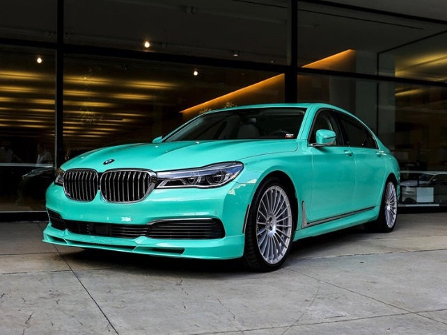 Alpina built a one-off mint green B7 for US customer