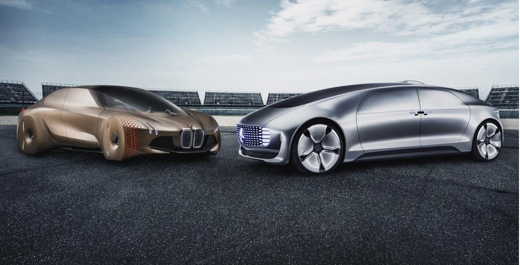 BMW and Mercedes-Benz self-driving car concepts