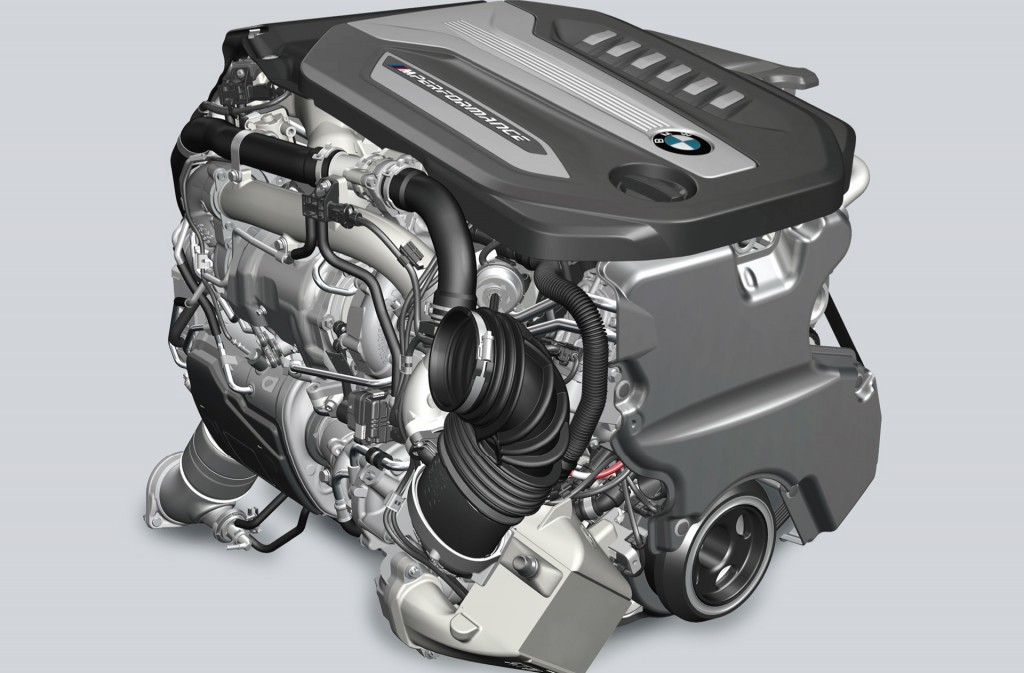 BMW quad-turbocharged 3.0-liter 6-cylinder diesel engine