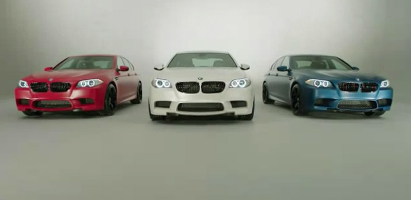 BMW teaser for M Performance M3 and M5