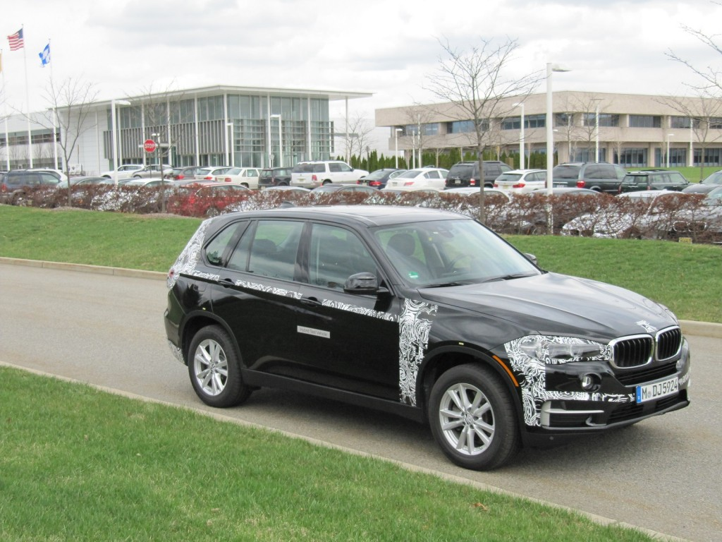 BMW X5 e-Drive plug-in hybrid prototype, test drive, Woodcliff Lake, NJ, April 2014