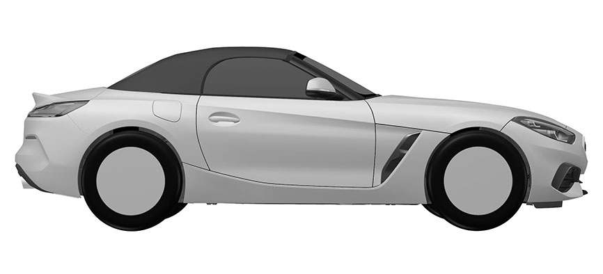 2019 BMW Z4's design revealed in patent drawings