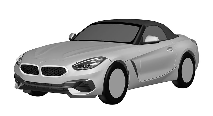 2019 BMW Z4\'s design revealed in patent drawings | News about cool cars
