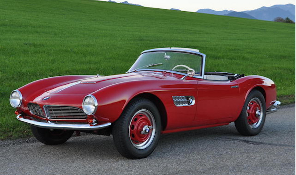 A BMW 507 owned by the man who designed it is headed to auction
