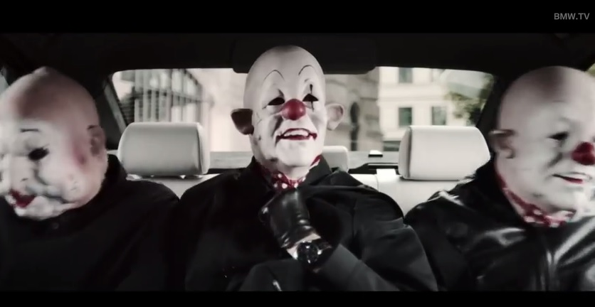 Bmw Uses Scary Bank Robbing Clowns To Promote In Car Web