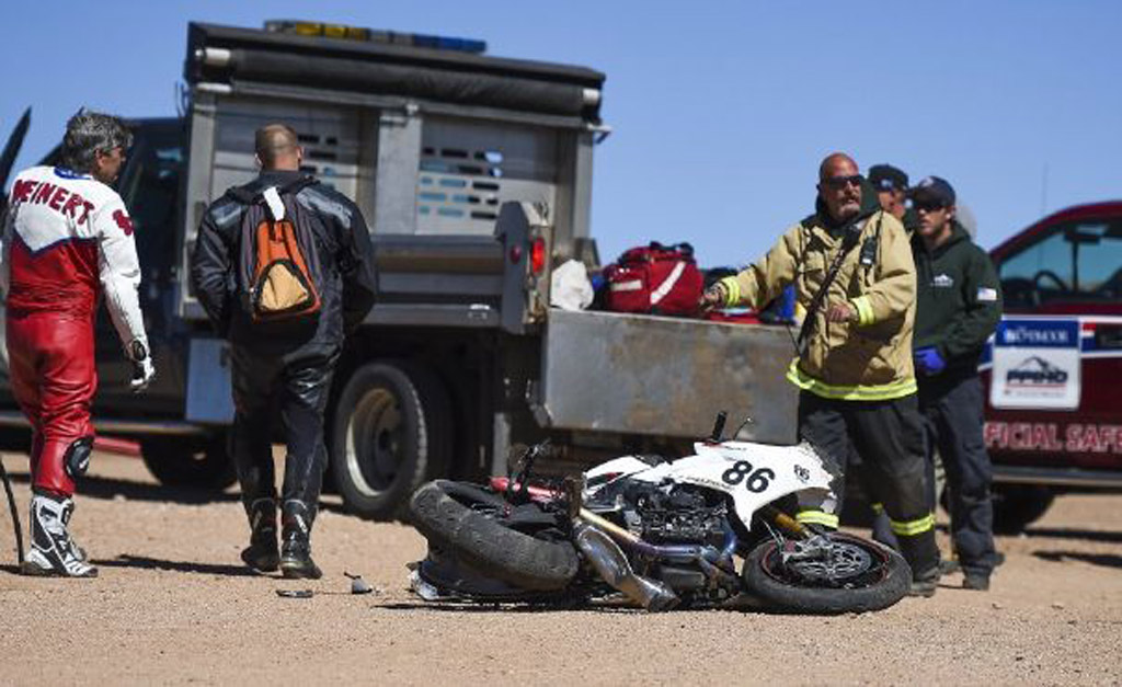 Crash site of Bobby Goodin at Pikes Peak (Image via Colorado Springs Gazette)