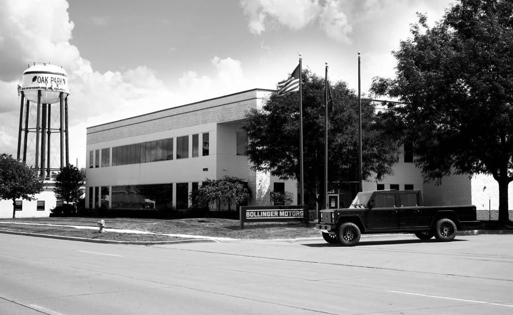 Bollinger's headquarters in Oak Park, Michigan