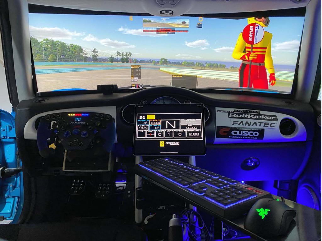 Brent Cheney's 2005 Mini Cooper S racing simulator build