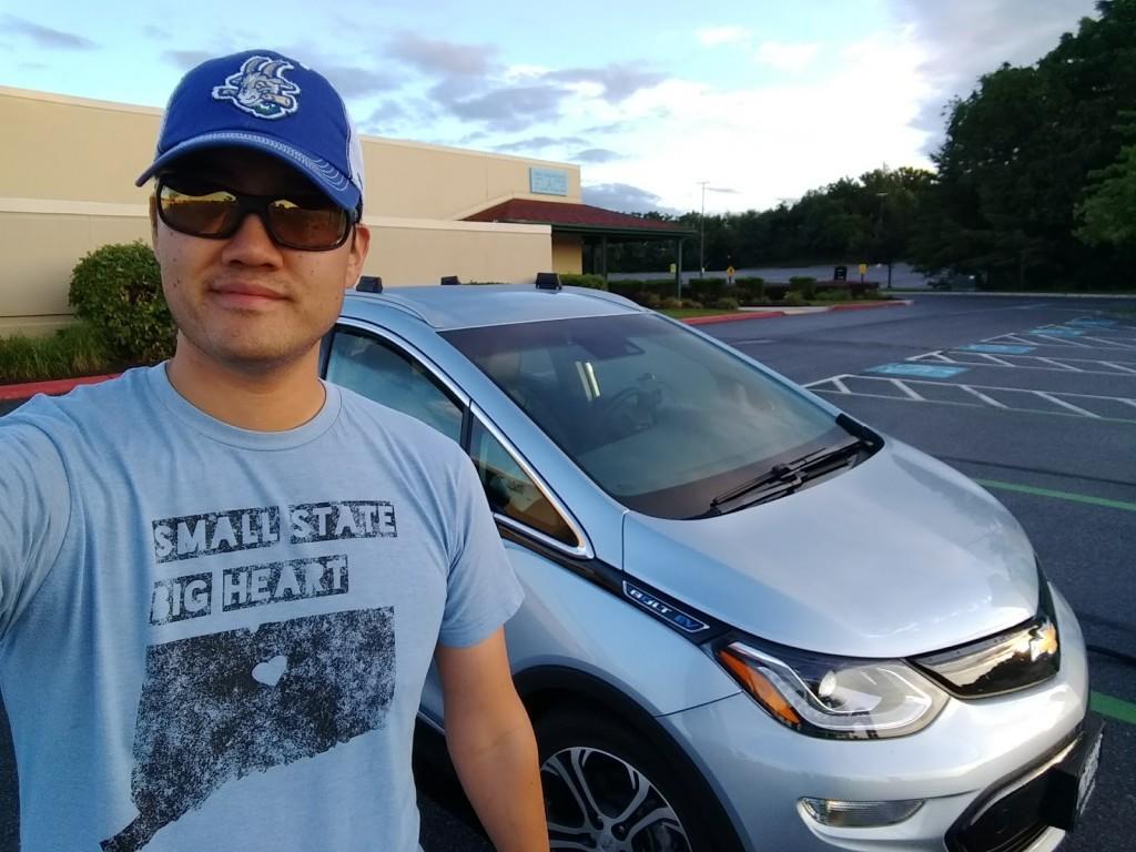 Brian Ro's 'obligatory selfie' with his 2017 Chevrolet Bolt EV  [image: Brian Ro]