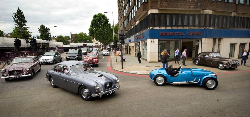 Bristol Cars landmark showroom in London, U.K.